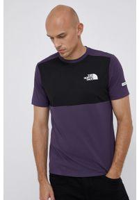 The North Face - T-shirt. Okazja: na co dzień. Kolor: fioletowy. Materiał: dzianina, materiał. Wzór: nadruk. Styl: casual