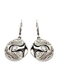 Polcarat Design - Srebro kolczyki cyrkonie K 1622. Materiał: srebrne. Kamień szlachetny: cyrkonia