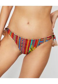 DEL MAAR - Dół od bikini w paski. Kolor: czerwony. Wzór: paski