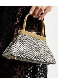 CULT GAIA - Torebka na ramię Estelle Mini. Kolor: czarny. Wzór: geometria. Rodzaj torebki: na ramię