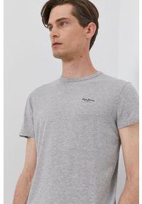 Pepe Jeans - T-shirt ORIGINAL BASIC. Okazja: na co dzień. Kolor: szary. Styl: casual