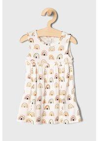 Biała sukienka Name it mini, rozkloszowana, na ramiączkach