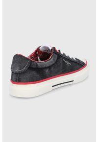 Pepe Jeans - Buty Kenton Origin. Nosek buta: okrągły. Zapięcie: sznurówki. Kolor: czarny. Materiał: guma