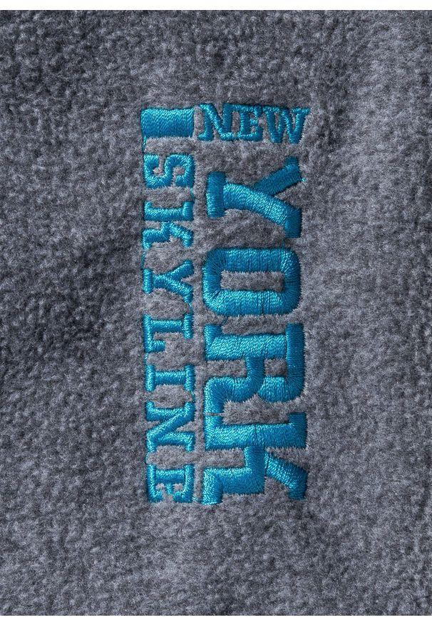 Szara bluza bonprix z kontrastowym kołnierzykiem, melanż