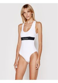 Biały strój kąpielowy