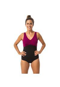 NABAIJI - Strój jednoczęściowy do gimnastyki w wodzie damski Nabaiji Romi. Kolor: czarny. Materiał: materiał, elastan, tkanina, poliamid, poliester