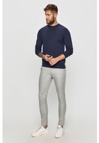 Niebieski sweter Marciano Guess casualowy, z długim rękawem