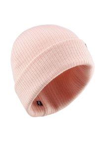WEDZE - Czapka narciarska FISHERMAN. Kolor: różowy. Materiał: akryl, materiał