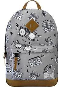 Incood Plecak szkolny Magnetofony szary. Kolor: szary