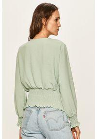 Zielona bluzka Haily's na co dzień, elegancka, długa, z długim rękawem