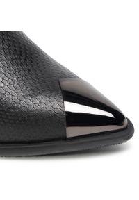 Czarne botki Karino na obcasie, na średnim obcasie #6