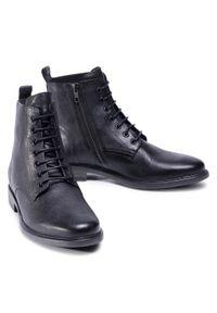 Czarne buty zimowe Geox z cholewką, eleganckie