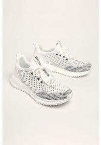 Białe sneakersy Big-Star na sznurówki, z okrągłym noskiem, z cholewką