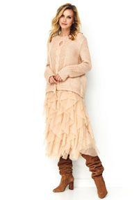 Różowy sweter oversize Makadamia