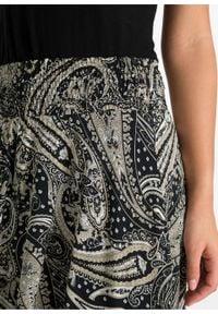 Spódnica bonprix piaskowo-beżowy - paisley. Kolor: beżowy. Długość: długie. Wzór: paisley