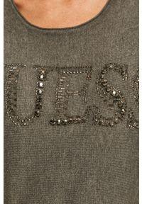 Szary sweter Guess Jeans casualowy, na co dzień