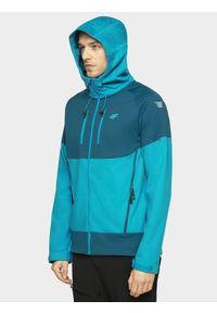 Niebieska kurtka softshell 4f ze stójką