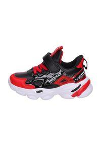 American Club - Sportowe buty dziecięce AMERICAN BD04/21 RD. Kolor: czarny. Materiał: skóra