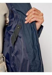 Niebieska kurtka puchowa Rains