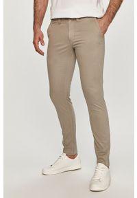 Szare spodnie Calvin Klein Jeans gładkie