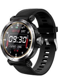 Czarny zegarek sportowy, smartwatch