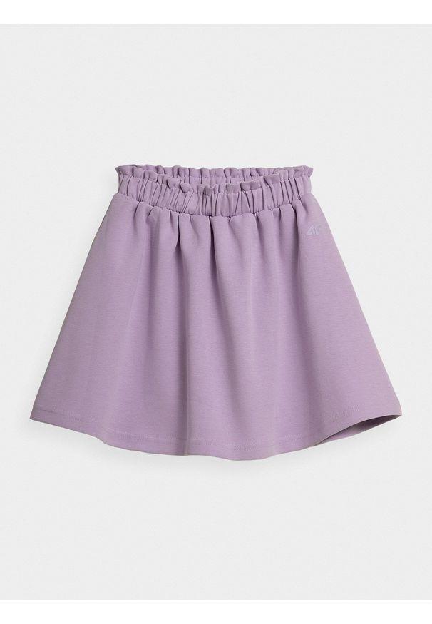 4f - Spódnica dzianinowa dziewczęca. Kolor: fioletowy. Materiał: dzianina