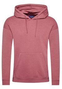 Jack & Jones - Jack&Jones Bluza Brink 12186375 Różowy Oversize. Kolor: różowy