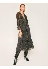 Czarna sukienka IRO prosta, casualowa, na co dzień
