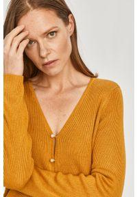 Scotch & Soda - Kardigan. Okazja: na co dzień. Kolor: żółty. Długość rękawa: długi rękaw. Długość: długie. Styl: casual