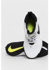 Białe buty sportowe Nike Kids z cholewką, na rzepy