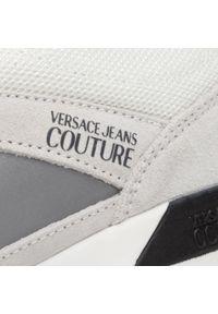 Białe sneakersy Versace Jeans Couture na co dzień, z cholewką