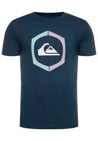 Quiksilver T-Shirt Sure Thing EQYZT05762 Niebieski Regular Fit. Kolor: niebieski