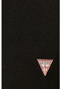 Czarny sweter Guess Jeans z długim rękawem, długi