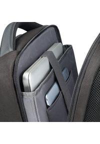 Czarny plecak na laptopa Samsonite w kolorowe wzory