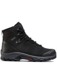 Czarne buty trekkingowe salomon Gore-Tex, trekkingowe