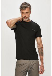 Czarny t-shirt Calvin Klein casualowy, z nadrukiem