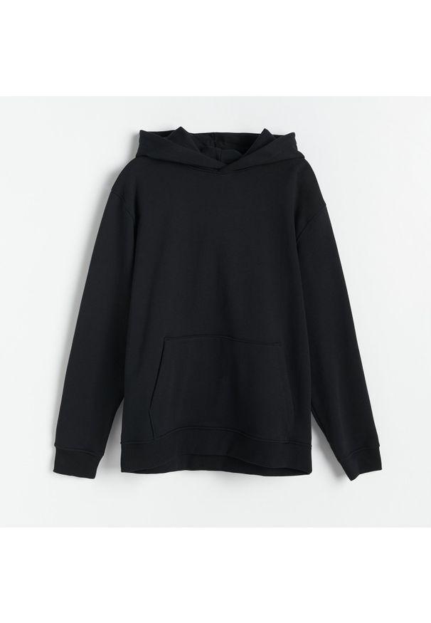 Reserved - PREMIUM Bluza z bawełny organicznej - Czarny. Kolor: czarny. Materiał: bawełna