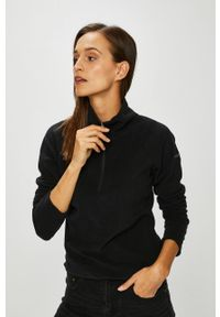 Czarna bluza columbia z nadrukiem, casualowa