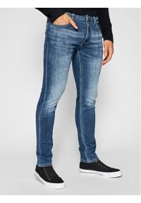 Pepe Jeans Jeansy Finsbury PM200338 Niebieski Skinny Fit. Kolor: niebieski