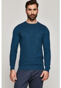 Niebieski sweter medicine długi, casualowy