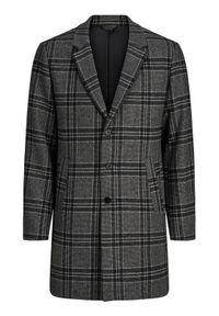 Jack&Jones PREMIUM Płaszcz przejściowy Blamoulder Check 12175885 Szary Regular Fit. Kolor: szary