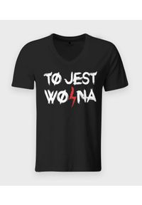 T-shirt v-neck MegaKoszulki klasyczny #1