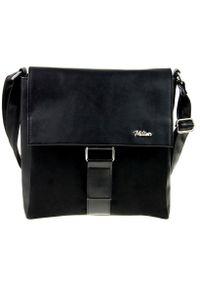 Czarna torebka MILTON przez ramię