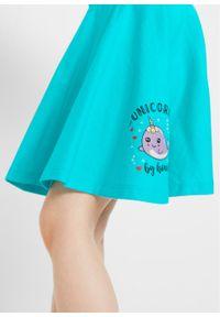 Spódnica dziewczęca z dżerseju (2 szt.), bawełna organiczna bonprix biel wełny - morski. Kolor: biały. Materiał: jersey, wełna, bawełna. Wzór: nadruk