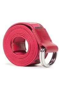 Calvin Klein Jeans - Pasek Męski CALVIN KLEIN JEANS - Double D Ring Tape 40mm K50K506423 XA9. Kolor: czerwony. Materiał: materiał