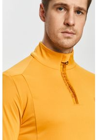 Pomarańczowa bluza nierozpinana casualowa, krótka, bez kaptura