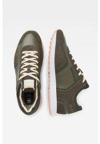 Zielone sneakersy G-Star RAW z cholewką, na sznurówki, z okrągłym noskiem