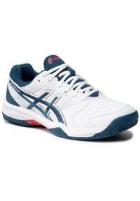 Asics - Buty ASICS - Gel-Dedicate 6 Clay 1041A080 White/Mako Blue 104. Kolor: biały. Materiał: skóra ekologiczna, materiał, skóra