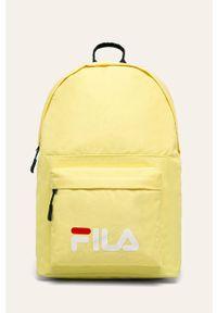 Żółty plecak Fila z nadrukiem