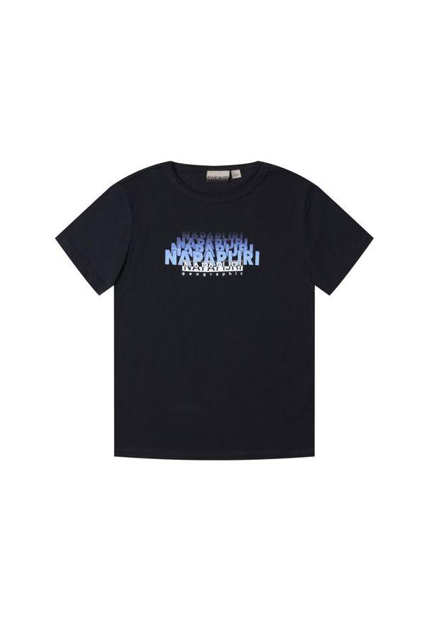 Niebieski t-shirt Napapijri
